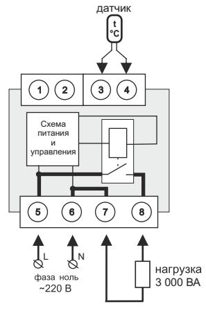Схема подключения терморегулятора terneo a